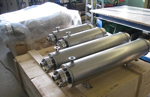 Sterile tube bundle heat exchanger